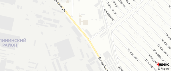 Валдайская улица на карте Челябинска с номерами домов