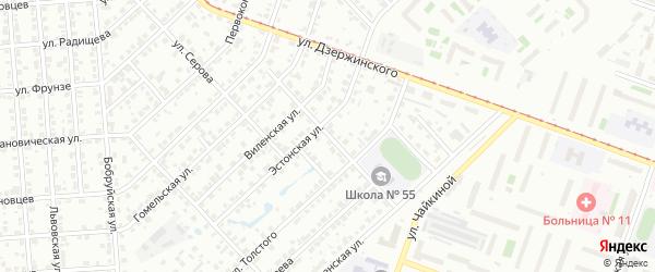 Брестская улица на карте Челябинска с номерами домов