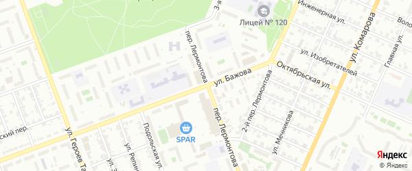 Улица Бажова на карте Челябинска с номерами домов