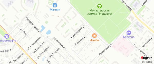 Прохладная улица на карте Челябинска с номерами домов