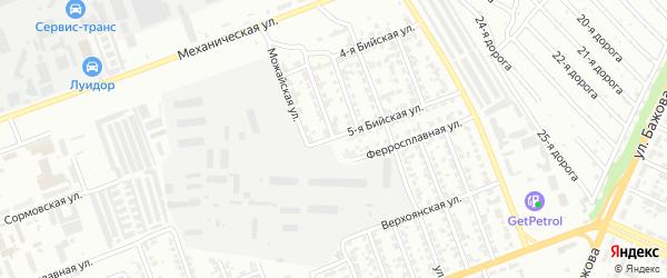 Улица Луначарского на карте Челябинска с номерами домов