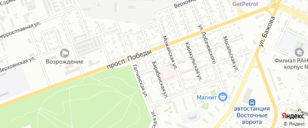 Барабинская улица на карте Челябинска с номерами домов