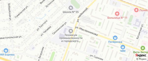 Улица Л.Чайкиной на карте Челябинска с номерами домов