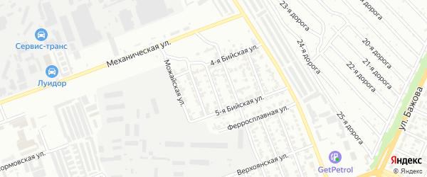 Сормовская 2-я улица на карте Челябинска с номерами домов