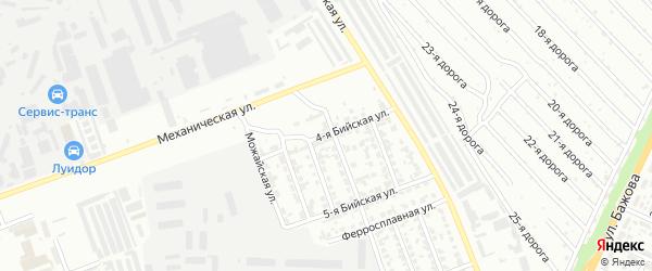 Бийская 4-я улица на карте Челябинска с номерами домов
