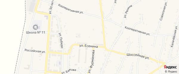 Лазурный переулок на карте поселка Розы с номерами домов