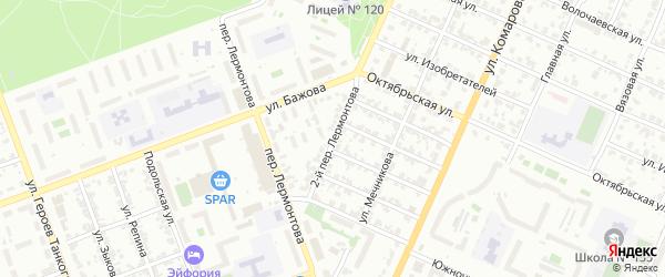Лермонтова 2-й переулок на карте Челябинска с номерами домов