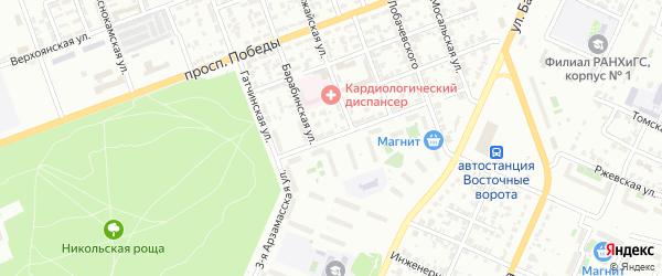 Арзамасская 3-я улица на карте Челябинска с номерами домов