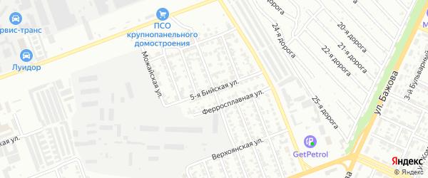 Сад Любитель-1 улица 5 на карте Челябинска с номерами домов