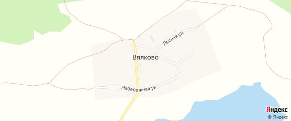 Лесная улица на карте деревни Вялково с номерами домов