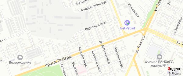 Ростовская улица на карте Челябинска с номерами домов