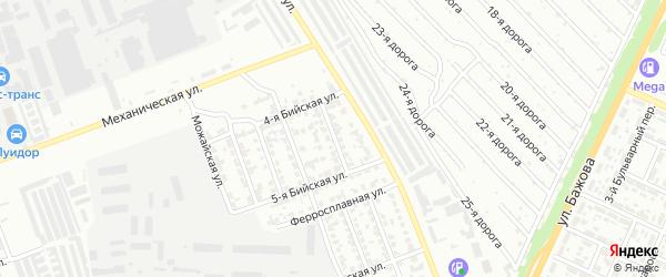Бийская улица на карте Челябинска с номерами домов