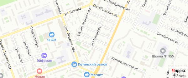 Улица Победы на карте Челябинска с номерами домов