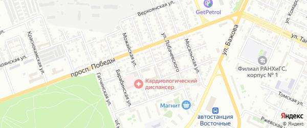 Арзамасская 1-я улица на карте Челябинска с номерами домов