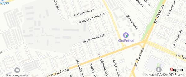 Улица Лобачевского на карте Челябинска с номерами домов