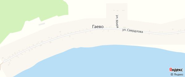 Улица Мира на карте села Гаево с номерами домов