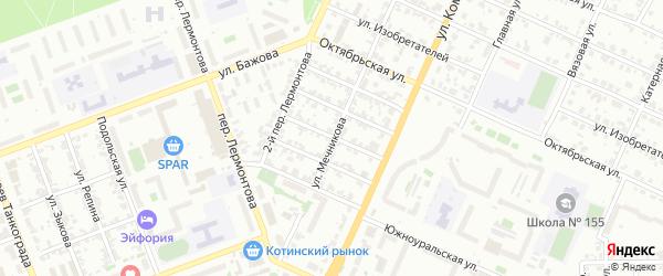 Конвейерный переулок на карте Челябинска с номерами домов