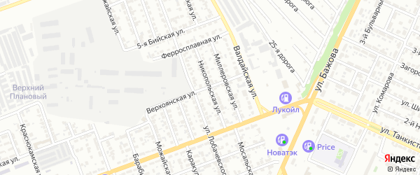 Никопольская улица на карте Челябинска с номерами домов