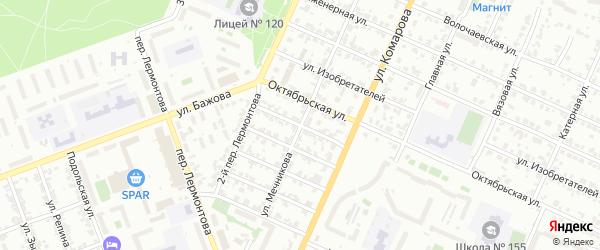 Слаботочный переулок на карте Челябинска с номерами домов