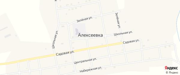 Садовая улица на карте села Алексеевки с номерами домов