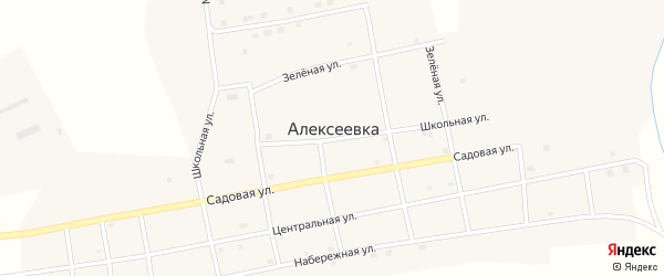 Набережная улица на карте села Алексеевки с номерами домов