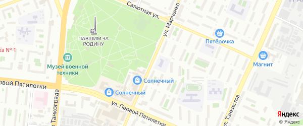 Улица Марченко на карте Челябинска с номерами домов