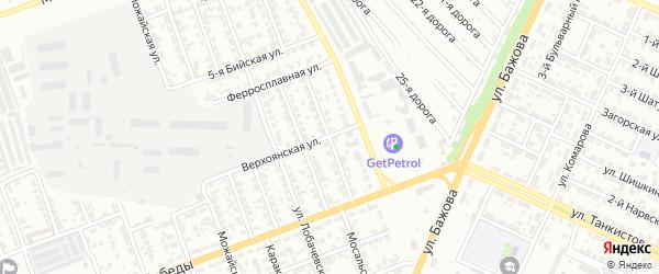 Миллеровская улица на карте Челябинска с номерами домов