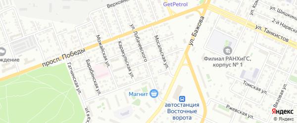 Арзамасская 2-я улица на карте Челябинска с номерами домов