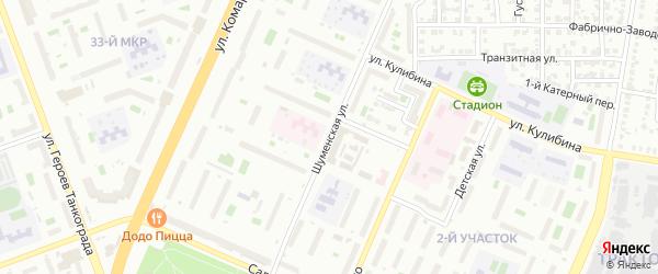 Шуменская улица на карте Челябинска с номерами домов