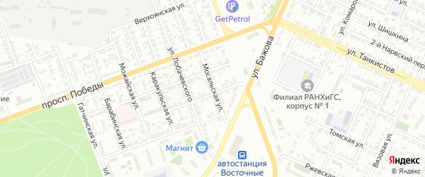 Мосальская улица на карте Челябинска с номерами домов