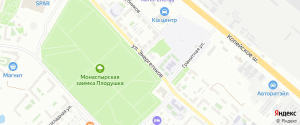 Улица Энергетиков (Новосинеглазово) на карте Челябинска с номерами домов