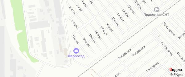 Сад СНТ Авиатор-2 улица 19 на карте Челябинска с номерами домов