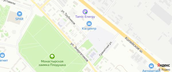 Улица Трубников на карте Челябинска с номерами домов
