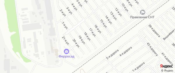 Сад СНТ Авиатор-2 улица 18 на карте Челябинска с номерами домов