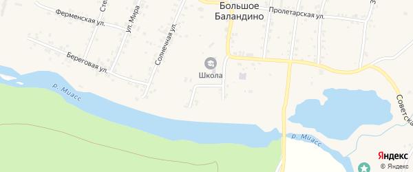 Логовой переулок на карте села Большое Баландино с номерами домов