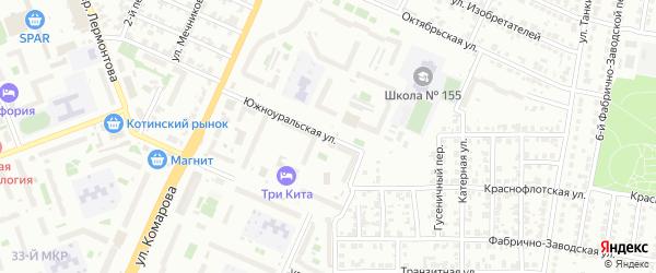 Южноуральская улица на карте Челябинска с номерами домов