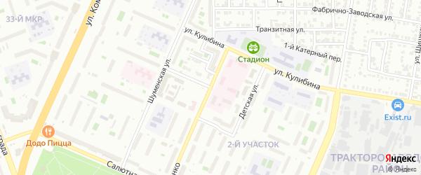Детская улица на карте Челябинска с номерами домов