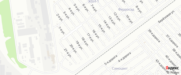 Сад СНТ Авиатор-2 улица 17 на карте Челябинска с номерами домов