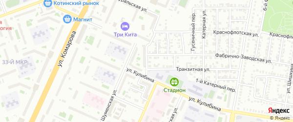 Индустриальная улица на карте Челябинска с номерами домов