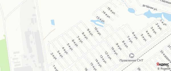 Сад ЖБИ-1 на карте Челябинска с номерами домов