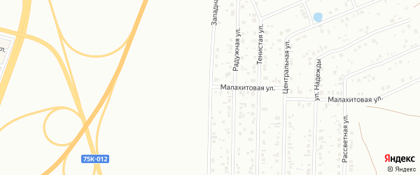 Западная улица на карте Копейска с номерами домов