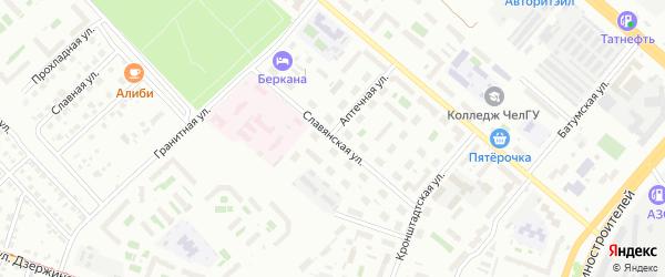Славянская улица на карте Челябинска с номерами домов