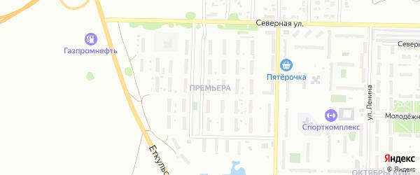 Микрорайон Премьера на карте Копейска с номерами домов