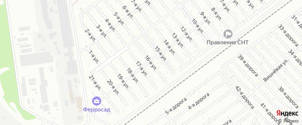 Сад СНТ Авиатор-2 улица 16 на карте Челябинска с номерами домов