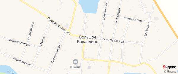 Пролетарская улица на карте села Большое Баландино с номерами домов