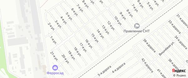 Сад СНТ Авиатор-2 улица 15 на карте Челябинска с номерами домов