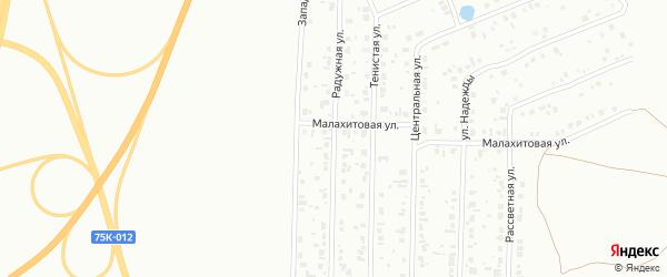 Улица Радужная (бывший РП Октябрьский) на карте Копейска с номерами домов
