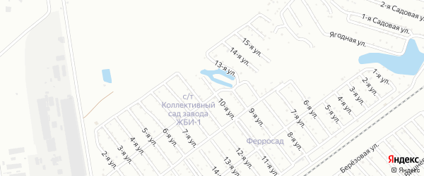 Тракторосад 1-2 сад 1 на карте Челябинска с номерами домов