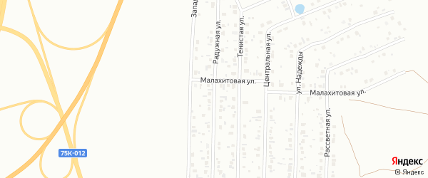 Улица Радужная (бывший РП Старокамышинск) на карте Копейска с номерами домов