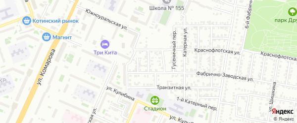 Радиаторная улица на карте Челябинска с номерами домов